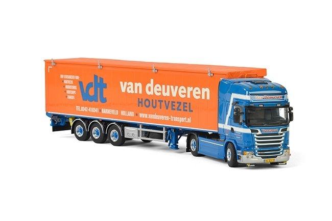 Scania Streamline Topline Schubbodenauflieger  Van Deuveren