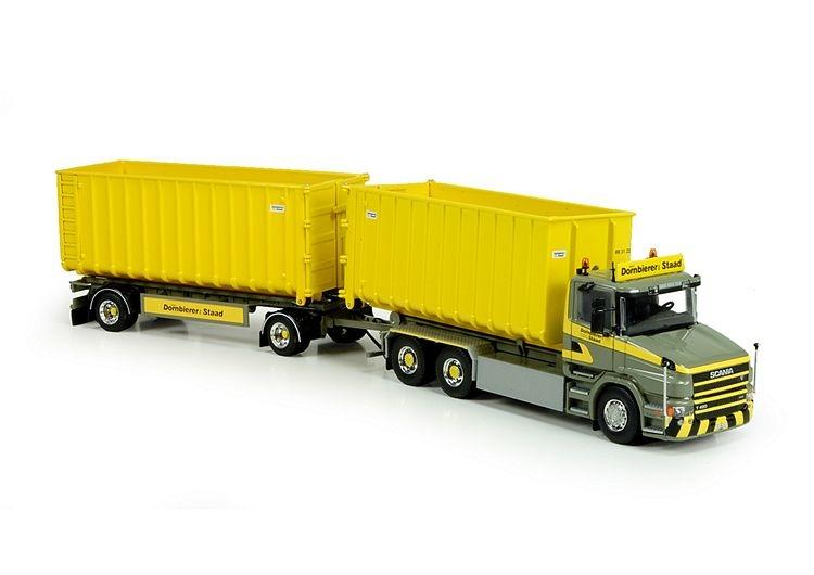 Scania T serie Hakenarm Container Dornbierer
