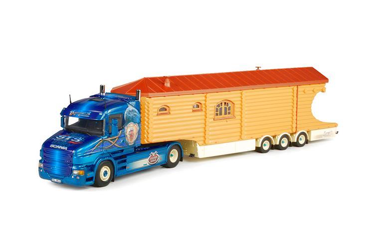 Scania T-serie Tieflader Blockhaus  Niedergeass
