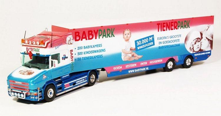 Scania Torpedo geschlossenem Auflieger Babypark
