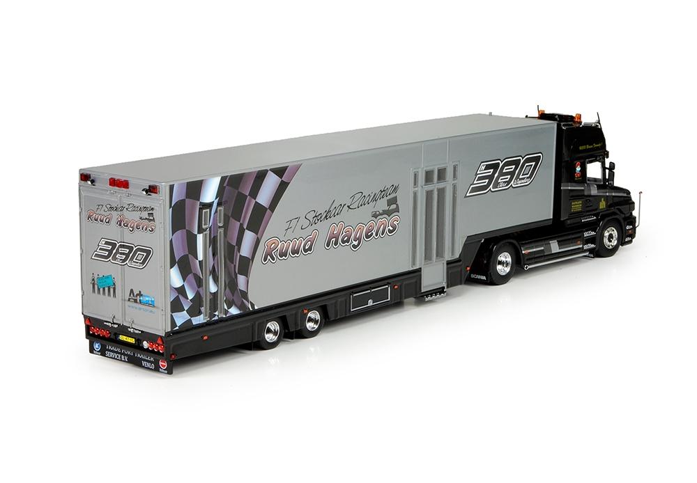 Scania Torpedo Topline racetrailer Hagens Datrans Ruud