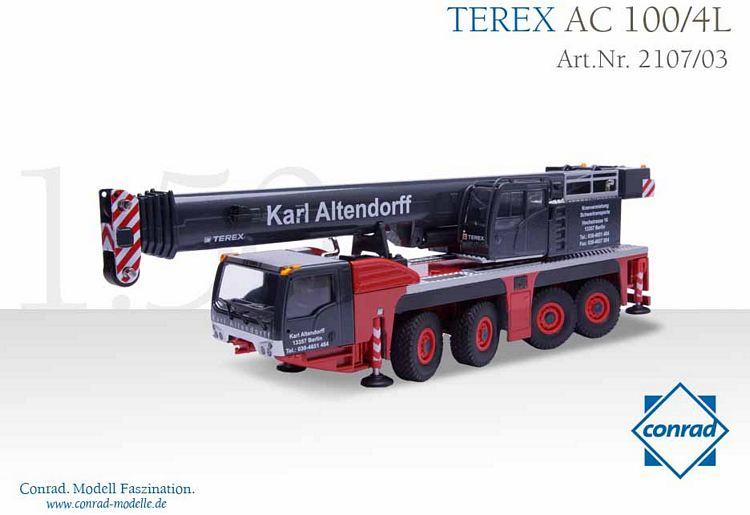 Terex AC 100/4L Teleskopkran Altendorff