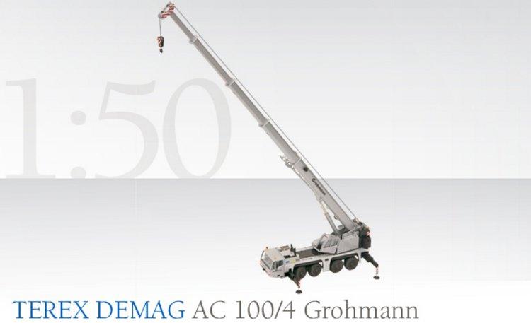 Terex DEMAG AC100/4 Teleskopkran Grohmann Conrad Modelle 1:50 con