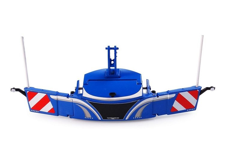 Tractor bumper safetyweight blue