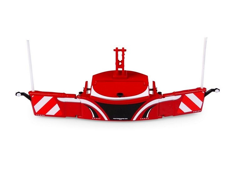 Tractor bumper safetyweight red
