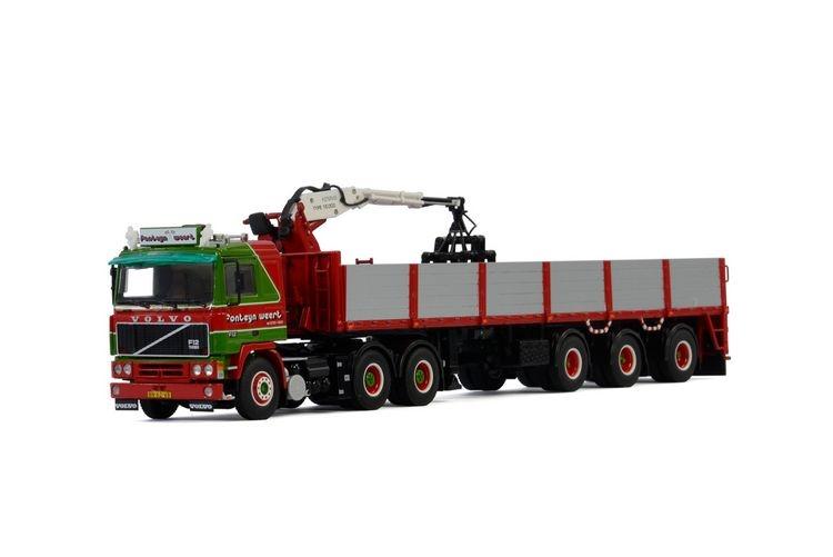 Volvo F12 6x4 Brick Trailer  Fonteijn Weert