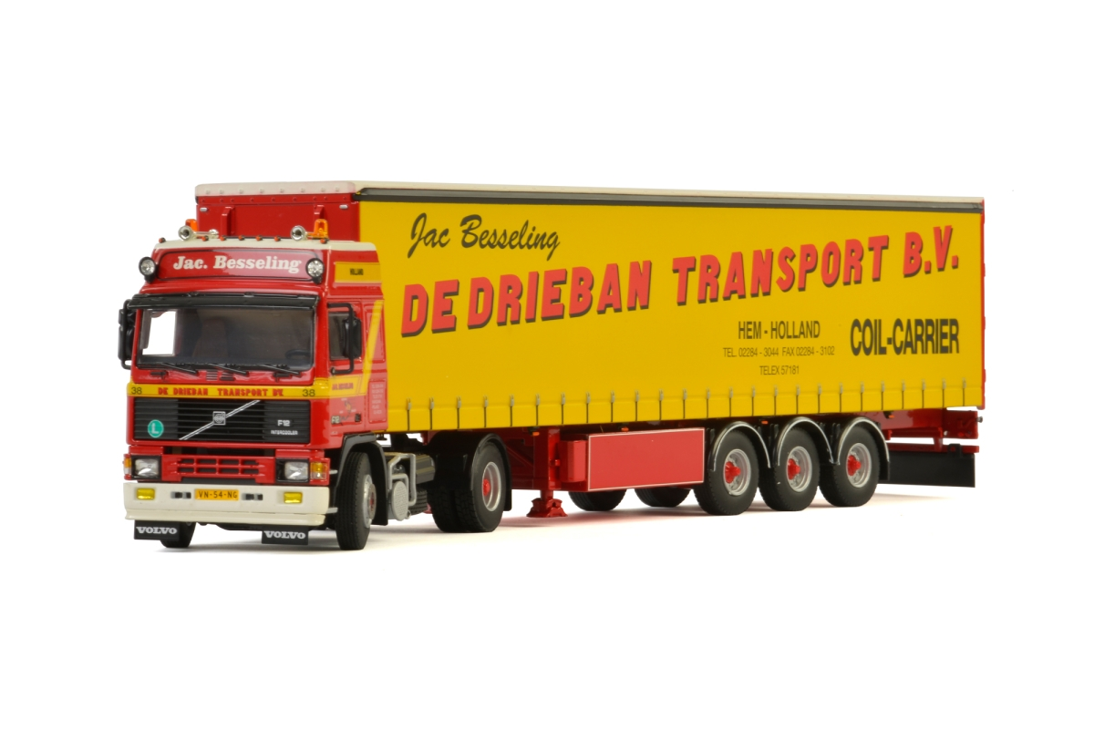 Volvo F12 Curtainside Trailer De Drieban Transport