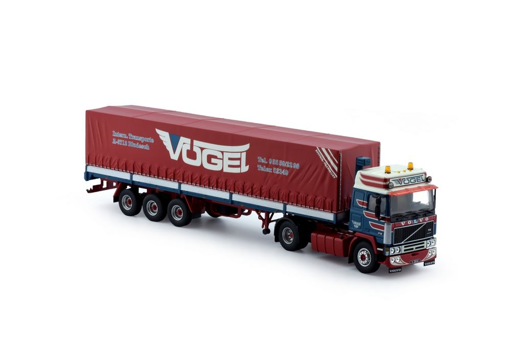 Volvo F12 Globetrotter  Klassisk Plane Auflieger Voegel