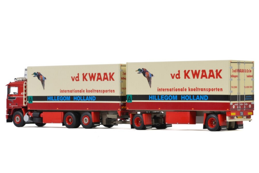 Volvo F12  Riged Combi Refrigerated  Van der Kwaak Transport