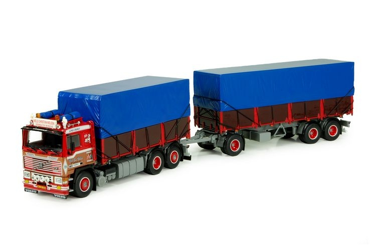 Volvo F12 rigid truck  3 axle trailer Nielsen BRDR