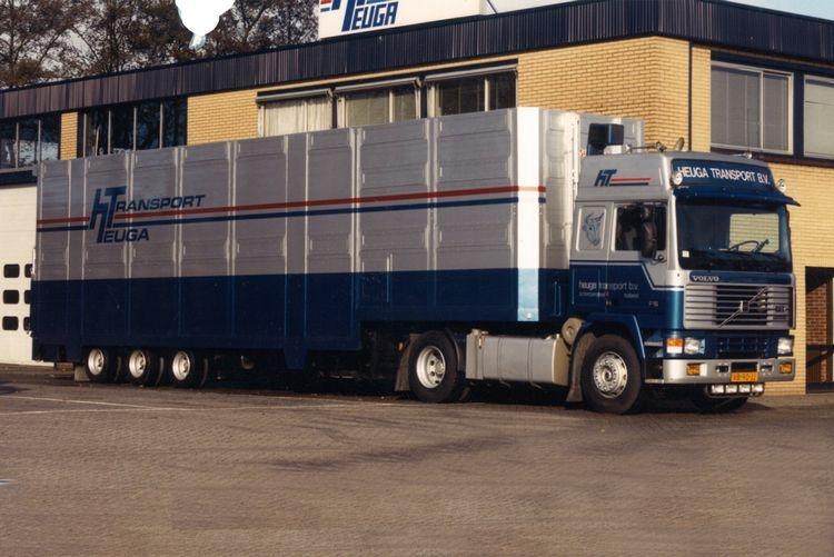 Volvo F16 Globe. Live Stock Trailer Heuga Transport