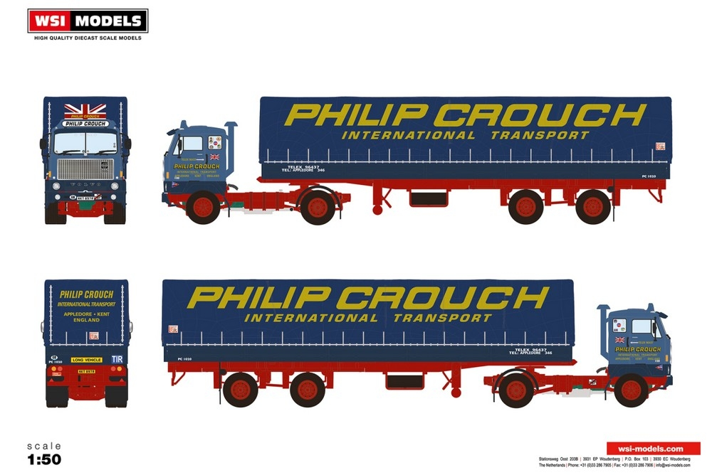 Volvo F88  Curtainside Classic  Philip Crouch