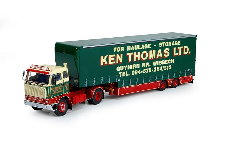 Volvo F88 Curtainside trailer Thomas Ken