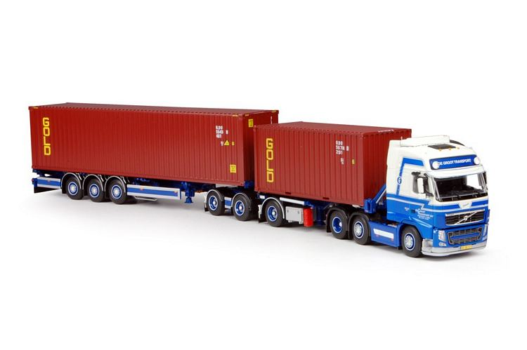 Volvo FH03 Globetrotter mit 20ft + 40ft Container Groot MJ de Tekno 1:50 t 64408 1