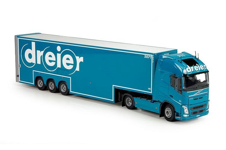 Volvo FH04 Dubbledeck box semitrailer Dreier