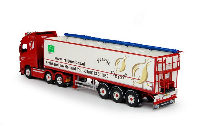 Volvo FH04 Globe. Kartoffeln Auflieger Franje Onions