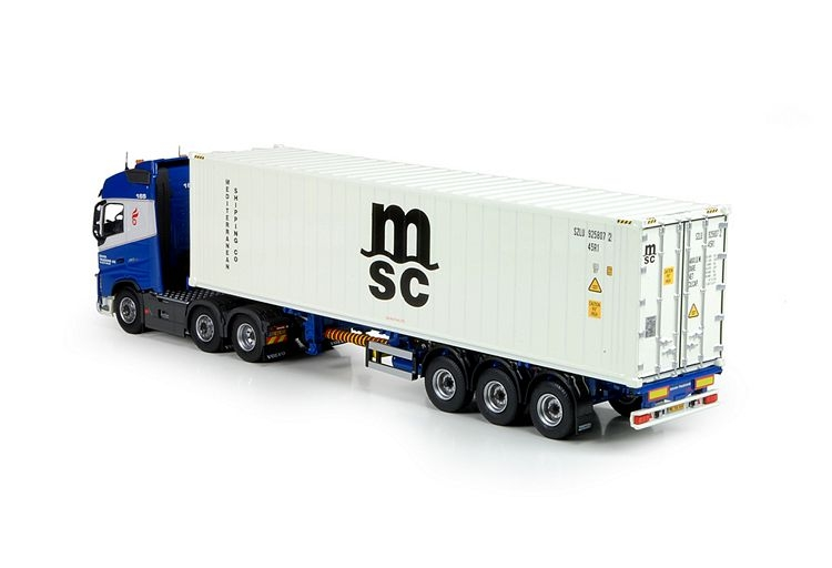 Volvo FH04 Globetrotter  MSC kuehlcontainer Dania