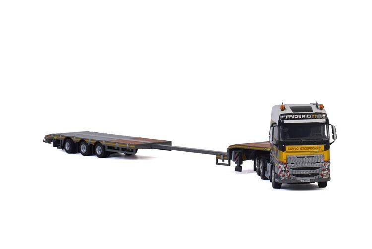 Volvo FH4 Globe. Semi Lowloader Friderici