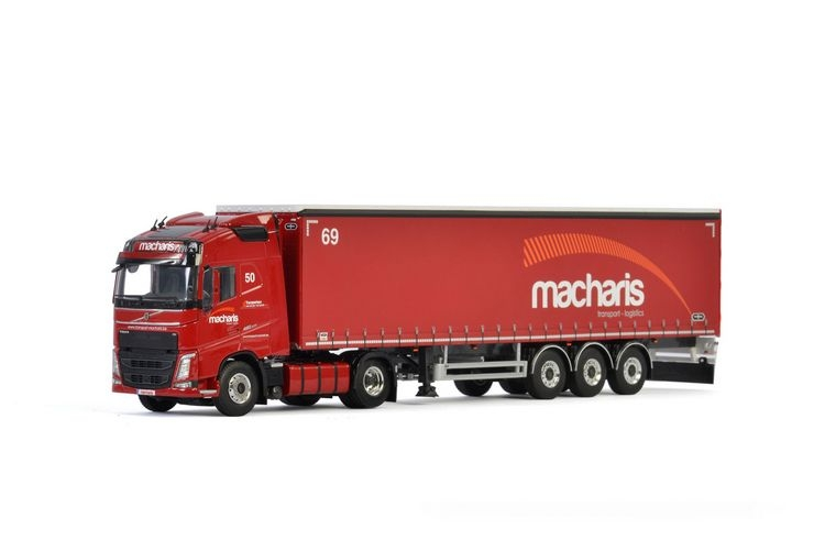 Volvo FH4 Globetrotter Curtainside  Macharis Transport