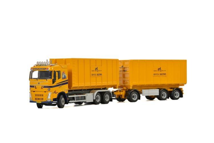 Volvo FH4 SC Hooklift trailer Sinke Groep