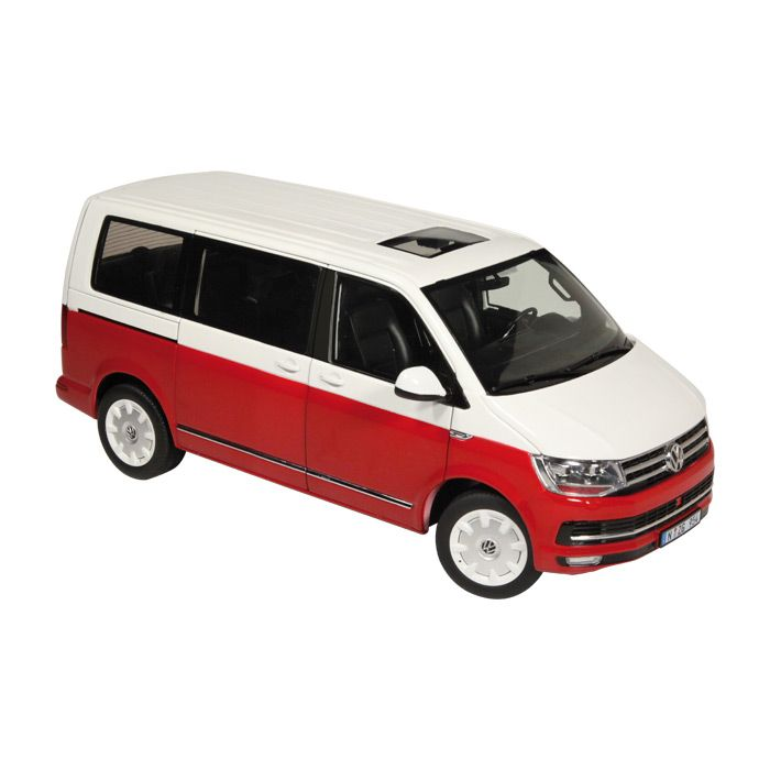 VW T6 Multivan Generation Six Red white 1-18