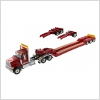 International HX520 Tandem XL 120 Lowboy   Red