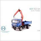MAN TGS M  4x4 Allrad Kipper blau