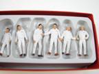 Monteur Miniaturfiguren weiss
