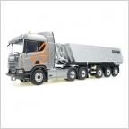 Scania R 580 V8 6x4  Tipper semitrailer